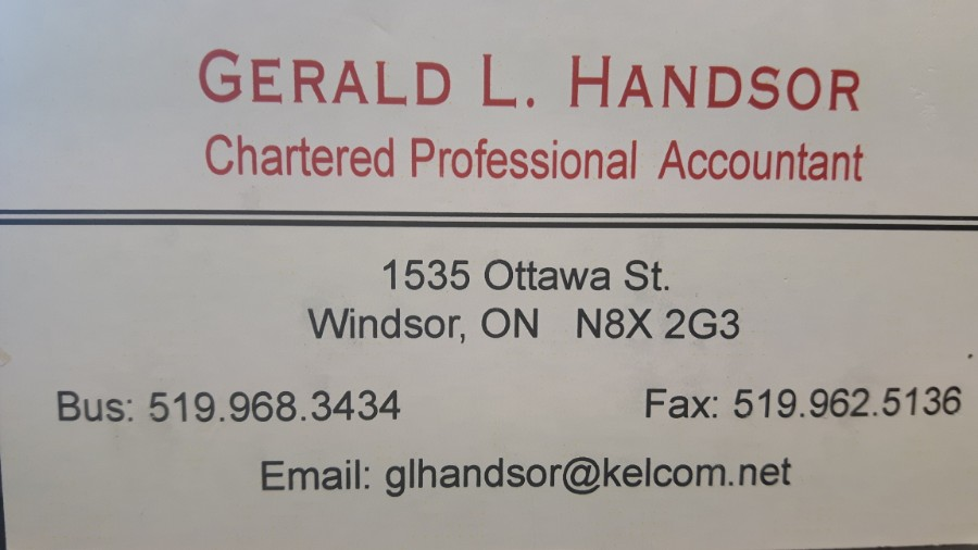 Gerald L Handsor, Charted Accountant